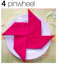 Napkin Folding - this site has lots of different napkin folds. LOVE IT!