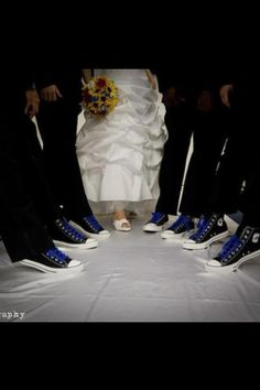 Converse shoes for the groom and groomsmen:) If only Katie let me do this...