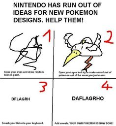 How to Make Your Very Own Pokémon -- I am so trying this later!!