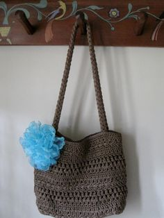 Weekend purse with homemade flower by my sister