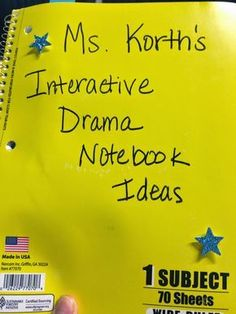 Running Down a Dream: Interactive Notebook Ideas for Middle School Theatre Arts