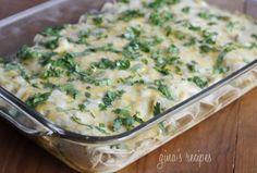 Weight Watchers white bean chicken enchiladas...these r in the oven as we speak :)