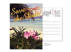 Ceci New York Beach Save the Date Vintage Postcard