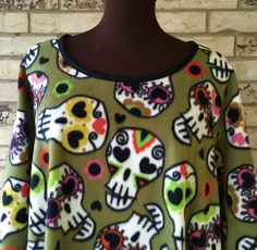 Sugar Skulls Fleece Tunic by TexasStitchWitches on Etsy https://www.etsy.com/listing/250979900/sugar-skulls-fleece-tunic
