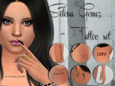 Sims 4 CC's - The Best: Selena Gomez Tattoo Set by LiliSimmer