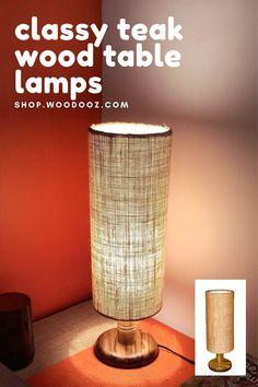 #lamp #design #interiordesign #light #lighting #homedecor #interior #lamps #led #art #lights #vintage #decor #decoration #handmade #lightingdesign #home #photography #architecture #tablelamp #s #furniture #lampe #homedesign #o #love #lampu #lampdesign #interiors #bhfyp Lamp Design, Lighting Design, Table Lamp Wood, Teak Wood, Lampshades, Vintage Decor, Diy Tutorial, Tutorials, House Design