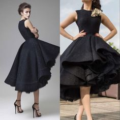 Krikor Jabotian 3D Lace Floral Arabic Dubai Jewel Neck Dark Navy Evening Dress Knee Length Party Gown Sleeveless Formal homecoming dress