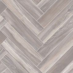 Smoked Parquet Herringbone Design Cushioned Vinyl Flooring Roll Best4flooring Uk