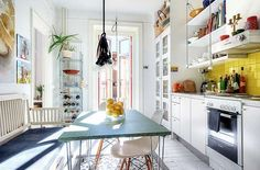 Look! A Busy Scandinavian Kitchen With a Lot To Love