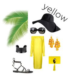 """yellow dress"" by melziggy-mb on Polyvore featuring 08 Sircus, Rebecca Minkoff, Nach Bijoux, Kate Spade, Bottega Veneta and yellowdress"