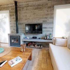 Home Fireplace, Fireplace Design, Wood Stove Wall, Log Burner Living Room, Casas Country, Standing Fireplace, Living Room Tv Unit Designs, Ranch Decor, Wood Burner