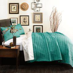 Sandra Quilt Set in Turquoise