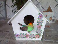 MDF casinha de pássaro