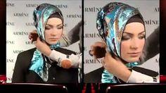how to wear hijab turkish style - YouTube