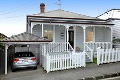 weatherboard Weatherboard House, Queenslander, Facade House, House Facades, House Exteriors, Exterior Colors, Exterior Design, 1950s House, Cottage Renovation