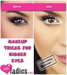 Makeup tricks for bigger eyes                                                                                                                                                      More
