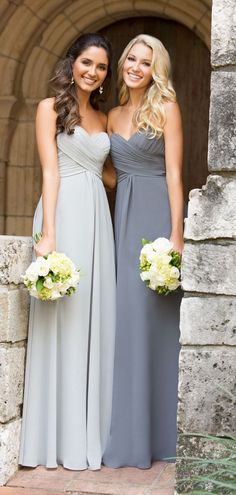 Simple Classic Chiffon Ruching Pleats Floor-length Elegant Bridesmaid Dress
