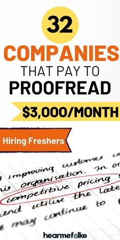 Online Jobs: Looking to get hired and take proofreading jobs for beginners? Here are 32 reputable online jobs for proofr Earn Money From Home, Earn Money Online, Way To Make Money, Online Earning, Legit Work From Home, Work From Home Jobs, Legitimate Work From Home, Online Jobs From Home, Online Work