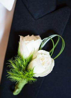 wedding boutonniere idea; photo: Drew Brashler Photography