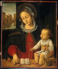 Ambrogio da Fossano Bergognone (1453-1523). Madonna col Bambino. Rijksmuseum Amsterdam