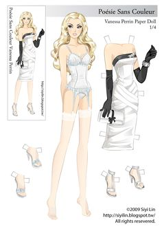 The Making of Paper Dolls: FDQ Vanessa Paper doll(2009 version) for free download