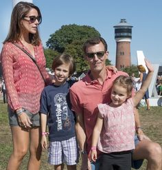 Prince Joachim and Princess Marie with their children at the   Tønder Festival 2016