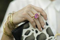 Love this Pink ring from Christina Jervey #ifihadamilliondollars