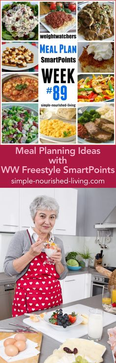 Weight Watchers Dinner Meal Planning Ideas with WW Freestyle SmartPoints - Simple-Nourished-Living.com