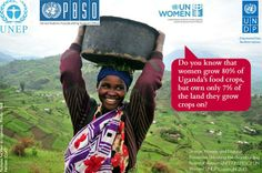 Women grow 80% of Uganda's food crops, but own only 7% of land.  Learn more about Women & Natural Resources and how we are helping  http://on.undp.org/rKgmm