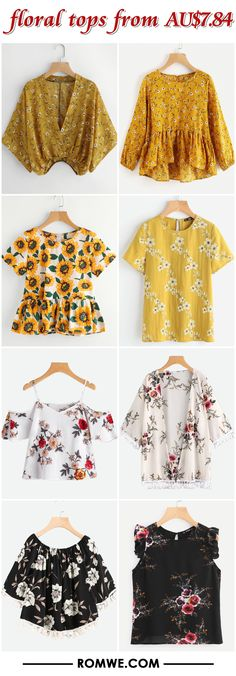 floral tops from AU$7.84 - romwe.com