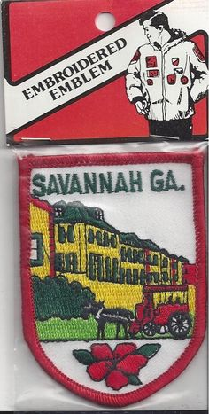 Colorful Souvenir Patch Savannah Georgia | eBay