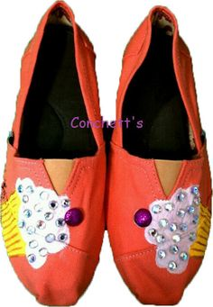 Hand Painted Cupcake TOMs shoes