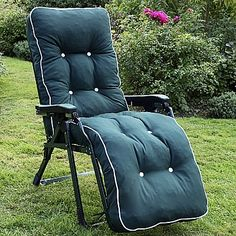 Resistant Tivoli Automatic Relaxer by Scab Design, Shown in Hunter Green with Pavia Tartan Cushion Garden Furniture, Furniture Design, Relaxer, Barcelona Chair, Hunter Green, Contemporary Furniture, Sun Lounger, Outdoor Spaces, Modern Design