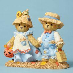 Cherished Teddies Kenn & Sue ~ Leaves Crunch While Treats 4053446 NIB…