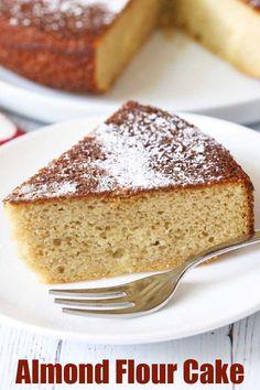 Almond Flour Desserts, Almond Flour Cakes, Almond Flour Recipes, Cake Flour, Coconut Flour, Almond Milk, Gluten Free Cakes, Gluten Free Baking, Gluten Free Desserts