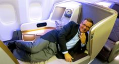 Business class in a brand new Flying First Class, First Class Flights, Business Class, Helping People, Singapore, Baby Car Seats, Bucket, Children, Places