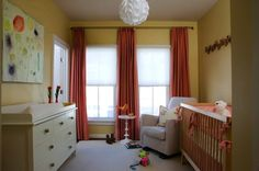 DOuble windows, floor to ceiling curtains.  Love the three panels idea... One large cornice?