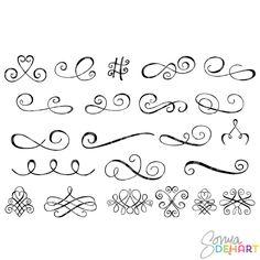 Clip Art Swirly Accent Flourishes