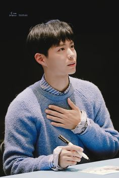 ♡ fansign l'eau d'hiver // do not edit or remove watermark. Asian Actors, Korean Actors, Korean Idols, Park Go Bum, Kim Yoo Jung, Fluffy Hair, Bo Gum, Korean Drama, Kdrama