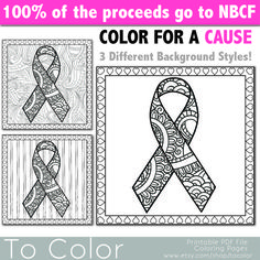 cancer color sheets Breast Cancer Awareness Coloring Pages