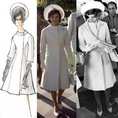 Jackie Kennedy's Oleg Cassini white coat/dress. She wore this on her trip to India in 1962.