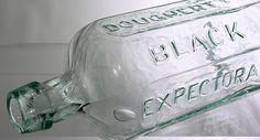 Dougherty's Black Expectorant Philada aqua Antique Bottles, Aqua, Soap, American, Antiques, Black, Antiquities, Water, Antique