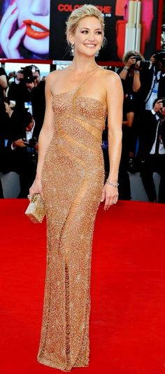 Kate Hudson in Atelier Versace, 2012  (jmho but she has a new face...unrecognizable anymore...lots of the stars have to have a face lift before they are 30)