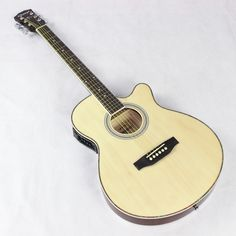 115.46$  Buy now - http://aliz89.worldwells.pw/go.php?t=32764119740 - Thin Body Electro Acoustic Electric Folk Pop Flattop Guitar Jumbo 40 Inch Guitarra 6 String Red Light Built-in Tuner Cutaway 115.46$