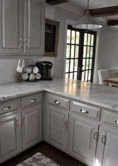 Gray kitchen cabinet makeover ideas (3)