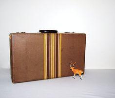 Vintage Suitcase 50s Box by CheekyVintageCloset on Etsy, $54.00