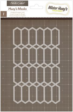 American Crafts - Studio Calico - Mister Huey's Color Mist - Stencils Mask - Elongated Hexagons at Scrapbook.com $3.99