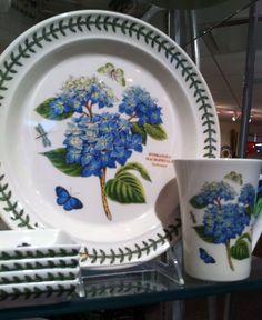 Portmerion china...Hydrangea pattern