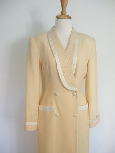 Vintage Cream Beaded Dress Nolan Miller by roguegirlvintage, $90.00 #nolanmiller #vintage #beaded #dress #cocktail