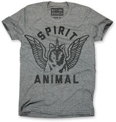 Spirit Animal!  Ultrasoft triblend crew neck t-shirt.